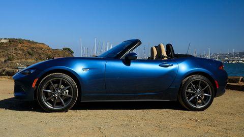 The 2019 Mazda MX-5 Miata comes with a 181-hp I4.