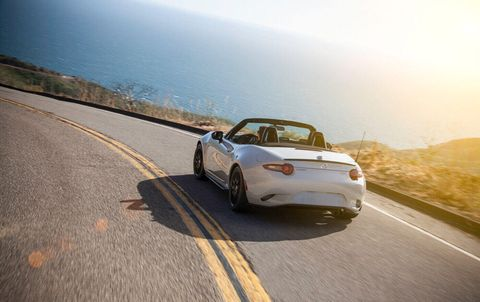 The 2018 Mazda MX-5 Miata comes with a 155-hp inline four-cylinder engine. Club model shown.