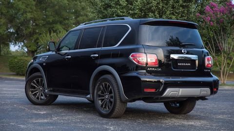 The 2019 Nissan Armada is only offered with a 5.6-liter Endurance V8 making 390 hp.