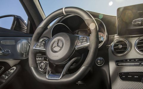 The interior is as good as any other C-Class.