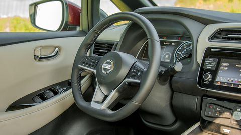 The Leaf offers a spacious and upscale interior that's also very user-friendly.