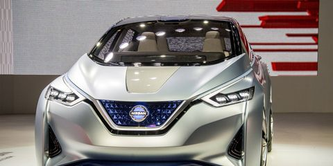The pure-electric Nissan IDS Concept made its debut at the Tokyo motor show.