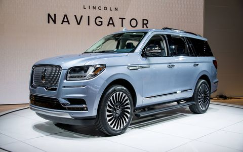 Lincoln debuted the 450-hp Navigator at the New York auto show, an all new model featuring the marque's new design direction.