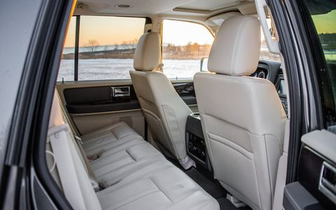 The rear seats are offered in a choice of two configurations, with optional captain's chairs.