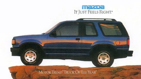 The Mazda Navajo was only available for a short period of time in the early 1990s, as part of the Ford Explorer's first generation.