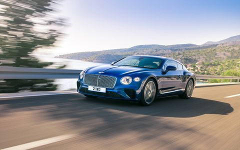 The 2019 Bentley Continental GT is all-new from the ground up, dropping weight, gaining tech but keeping the British marque's W12. In this case, it makes 626 hp and 664 lb-ft of torque.