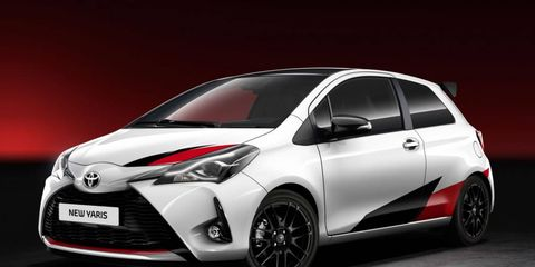 The hopped-up Yaris will deliver 210 hp from a yet-to-be-announced engine. We're guessing it's a turbo four.