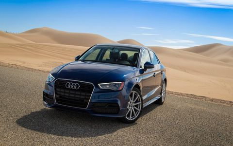 The A3 achieves an estimated EPA of 31 city/ 43 highway/ 36 combined MPG.