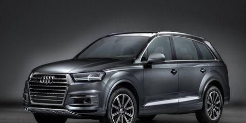 The 2017 Audi Q7 crossover goes on sale early next year.
