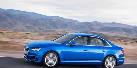 The new A4 comes with a 252-hp turbo four and goes on sale this spring.