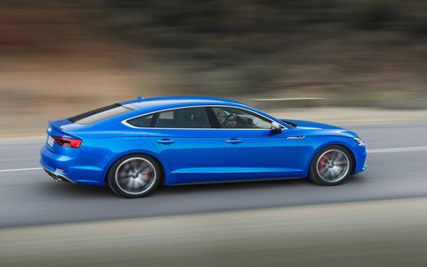 The 2018 Audi S5 Sportback goes on sale this spring.