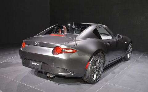 Mazda unveiled the MX-5 RF at the New York auto show