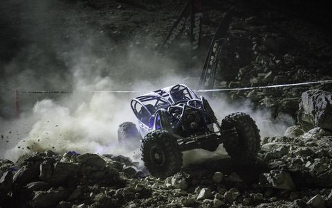 A competitor races up the rocks of the Holley EFI Shootout