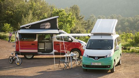 These two campers are due to enter production in Europe, where they will be among the smallest MPVs to receive camper versions.