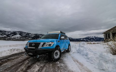 Ahead of the Chicago Auto Show, Nissan shows off its custom Armada, dubbed Snow Patrol. Alongside its 370Zki, the Snow Patrol proves that you can have fun even in the snow.