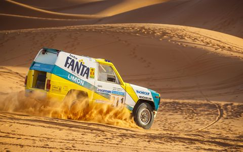 Car 211 was one of two Nissan Patrols campaigned that finished the 1987 Paris-Dakar Rally.