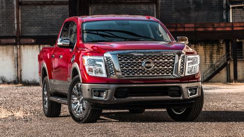 The Nissan Titan offers a 5.6-liter V8 making 390 hp.