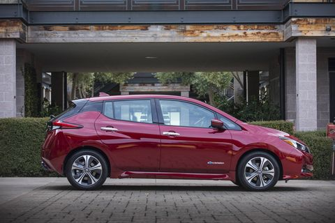 The 2018 Nissan Leaf gets about 150 miles of range.
