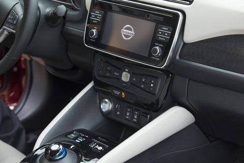 The 2018 Nissan Leaf comes with a newly designed interface on the Leaf smartphone app allows users to monitor the vehicle's state of charge, schedule charging to benefit from optimal energy tariffs, find the nearest charging station, and pre-heat or cool the car before getting in.