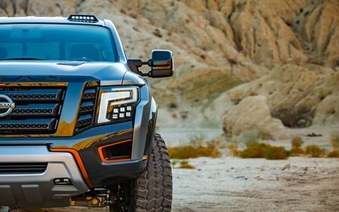 The Nissan Titan Warrior concept debuts at the Detroit auto show.