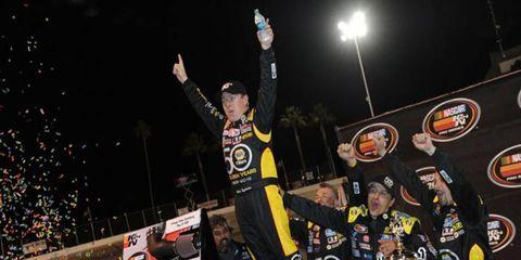 Chris Eggleston won his fourth career NASCAR K&N Series win on Saturday.