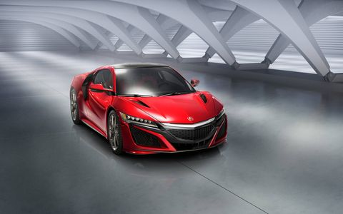 After extensive wind tunnel testing, the production NSX saw its front hood vents enlarged for improved downforce.