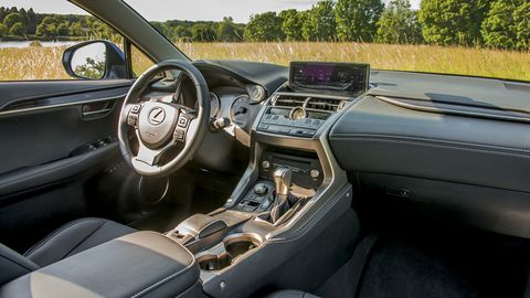 The NX 300 offers a slightly snug but luxurious interior, which benefits further from the optional Luxury Package.