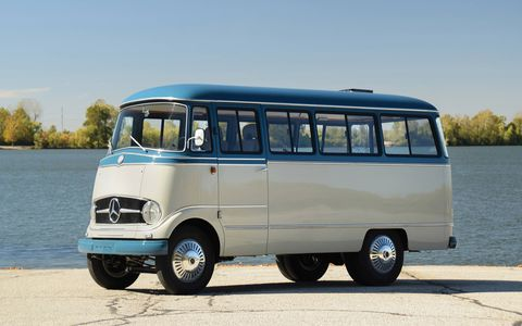 This 1959 Mercedes-Benz O 319 has been updated to be a little more road trip-friendly.