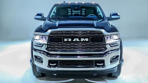 The 2019 Ram Chassis Cabs come with either a 6.4-liter Hemi V8 or a Cummins turbodiesel.