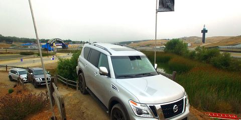 The 2017 Nissan Armada gets a complete redesign based on the global Nissan Patrol full-size SUV platform.