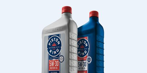 Piston King motor oil is available online only.