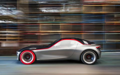 Opel previewed the GT concept ahead of the Geneva motor show.