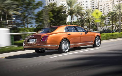 The 2015 Bentley Mulsanne Speed is everything you love about the Bentley Mulsanne, but more of it: More power, more torque (811 lb-ft!) and more luxury courtesy of the standard Mulliner Driving Specification trim.