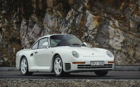 Bonhams will offer this 1988 Porsche 959 Komfort at their Bond Street sale at the end of the month.