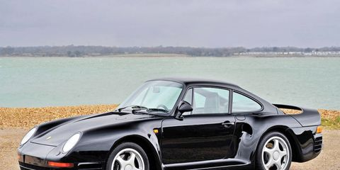 This Porsche 959 shows just around 9,500 kilometers on the clock.