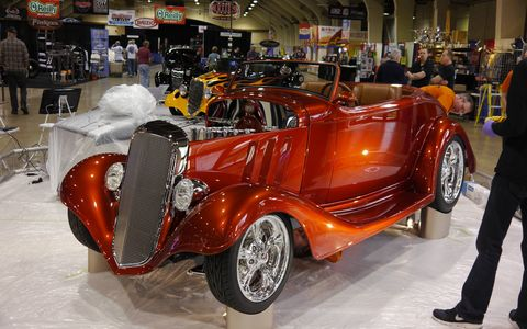 Grand National Roadster Show set up day 2015