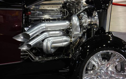Detail of the turbos on the Psycho 32