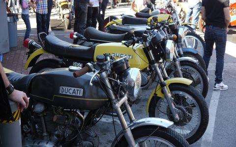 Old Ducatis at Deus Ex Machina