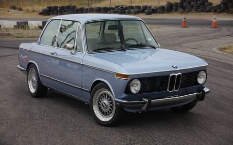 Clarion decided it didn't want just another undrivable double-DUB SEMA-show screamer, so it commissioned this fully drivable, very fun, perfectly balanced everyday dream car, a 1974 BMW 2002.