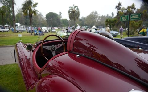 This Jaguar XK120 was one of almost 300 cars that made the fifth annual San Marino Motor Classic fun.