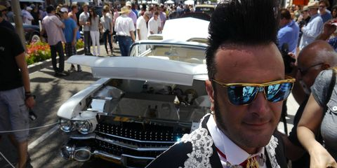 """Francesco Attolico is one of three Italian guys - from Italy - who built a '59 Cadillac into """"Elvis III,"""" certainly the most magnificent car ever to grace Rodeo Drive. Why Elvis, we asked? """"He is the king,"""" said Francesco. God bless America. And Italy."""