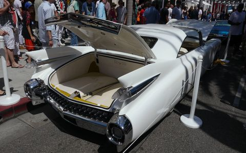 This is the Elvis III, a '59 Cadillac reworked as a tribute to The King by three guys in Italy. Yes, those are T-tops. If we gave out an award for anything, this would win it.