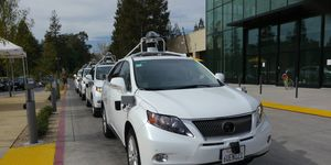 We rode in Google's self-driving Lexus RX450h SUV and one of the self-driving vehicle prototypes.