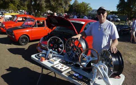 Mark Allison stands behind his Fiat products at Allison's Automotive of Upland, CA.