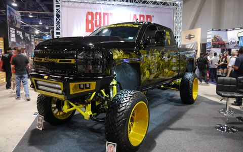 They were everywhere, far and away the most popular vehicles of any kind at SEMA: big, beautiful brodozers ready to crush anything in their paths. Thankfully, they were safely parked.