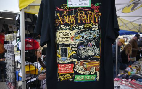 There was plenty of MoonEyes merchandise, of course, but there was also Ratfink stuff and many other T-shirt, jewelry and other cool gear suppliers.