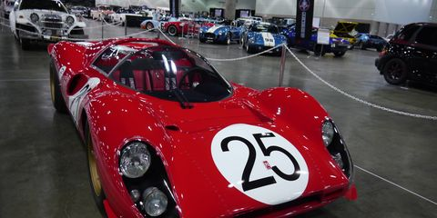 This replica P4 is parked at the first - who knows, maybe it'll be annual - Classic Auto Show, which Is underway right now at the Los Angeles Convention Center's South Hall, with 600 classics ranging from Abarth to, yes, it's true, a Zimmer. In between are Porsches, Packards and even a Panhard over in the French car section. Yes, there's a French car section. Spend one day at the Roadster Show and one here.