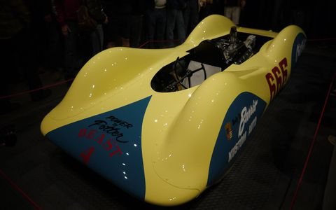 Chet Herbert's all-aluminum Beast 4 was originally built in only three weeks, according to legend, but had a Bonneville career that lasted decades. Recently rebuilt by Dan Webb and company, it joins Beast III as part of the NHRA Museum's Bonneville section.