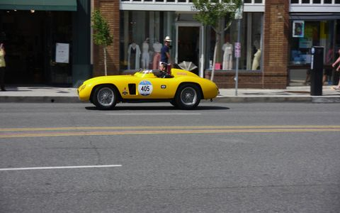 Over 150 Ferraris packed into three blocks of Colorado Blvd. in Pasadena's Old Town for the annual Concorso Ferrari. It's put on by the Ferrari Club of America's Southwest Region and it's free to all. Grazie mille!