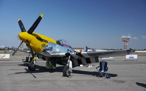 The Palos Verdes Concours moved from Palos Verdes to Torrance this year and added airplanes. Airplanes are cool. This one, a North American P-51D, won Best of Show in the plane category.